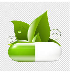 Tablet with leaves vector