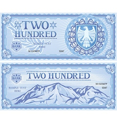 Two hundred dollar note vector image vector image