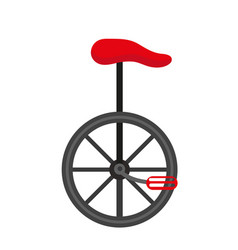 unicycle circus icon for flat style isolated on vector image vector image