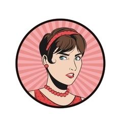 woman cartoon pop art and retro design vector image