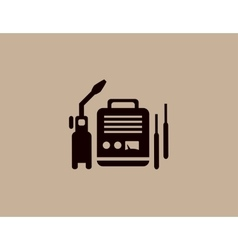 Welding machine icon vector