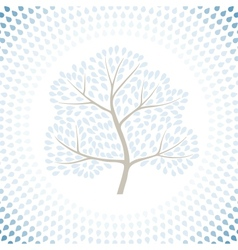 Winter tree season abstract background vector image