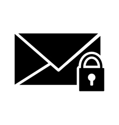 Message envelope and safety lock icon vector