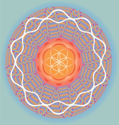 Flower of life seed mandala-spring edition vector