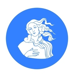 Italian goddess of love icon in black style vector image