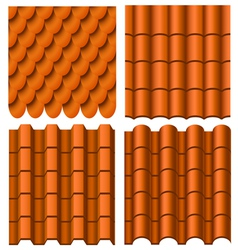 Roof pattern set vector image
