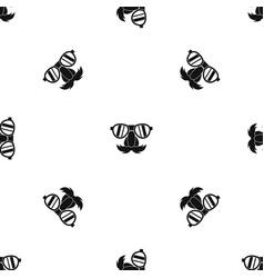 Clown face pattern seamless black vector