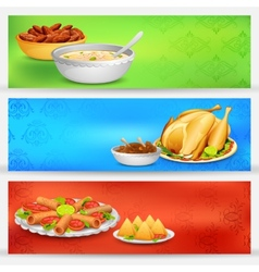 Iftar party banner vector