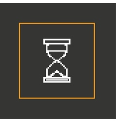 Simple stylish pixel icon hourglass design vector