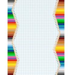 pencil borders vector image