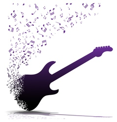 Play guitar vector