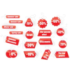 Set of sale tags vector