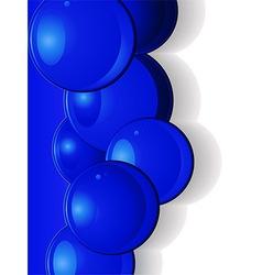 Dark blue glossy spheres portrait vector