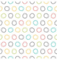 Abstract seamless pattern with hand drawn circles vector