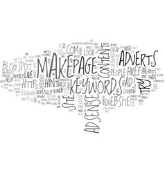 Adsense hints advice text word cloud concept vector