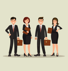 background of a business team vector image