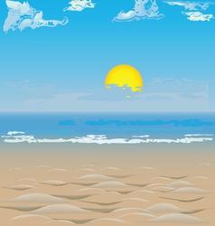 Beach on the ocean vector