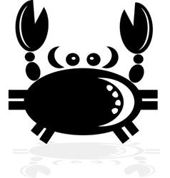Black Cancer Zodiac vector image vector image