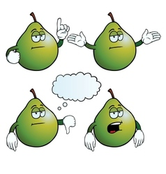 Bored pear set vector image vector image