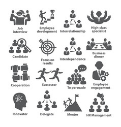 business management icons pack 33 vector image vector image
