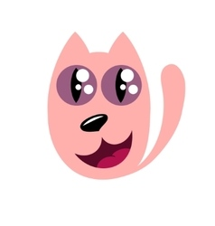 Cartoon cat stylized funny monster vector image vector image