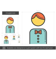 Croupier line icon vector