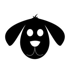 cute dog cartoon icon vector image