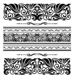 Decorative ornaments and patterns vector image vector image