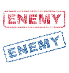 Enemy textile stamps vector