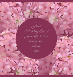 Floral blossom round card frame spring summer vector