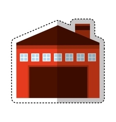 Garage building isolated icon vector