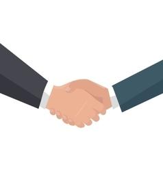Handshake in flat design vector