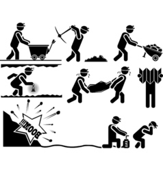 ICON MAN MINERS vector image