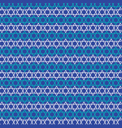 Jewish star stripe pattern vector