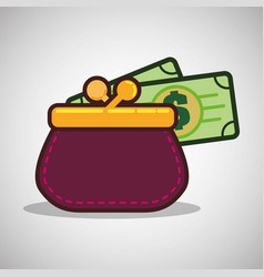 Money design financial item icon isolated vector