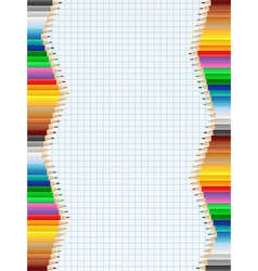 pencil borders vector image vector image