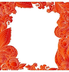 Red abstract floral ornament background vector image vector image