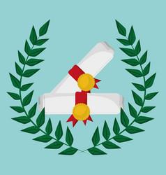 school certificate study emblem vector image vector image