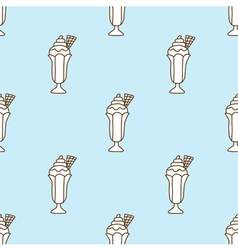 Seamless pattern of ice cream vector image