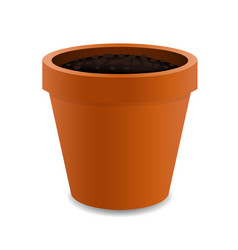 Terracotta pot vector