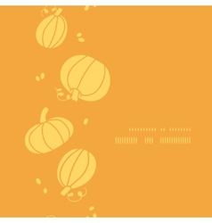 Thanksgiving golden pumpkins vertical frame vector image vector image