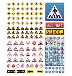traffic signs set vector image vector image