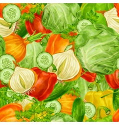 Vegetables mix seamless background vector image
