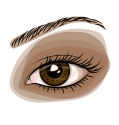 Woman brown beautiful eye vector