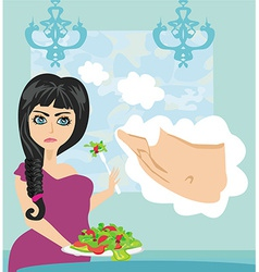 Woman on a diet vector