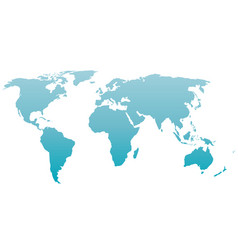 world map silhouette blue gradient vector image vector image