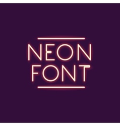 Neon font text design vector image