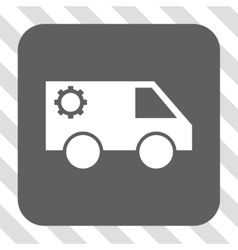Service car rounded square button vector
