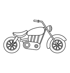 Motorcycle icon outline style vector