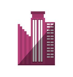 Building business trendy shadow vector